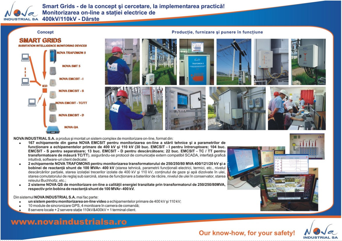 Monitorizarea on-line a statiei electrice de 400/110kV Darste!