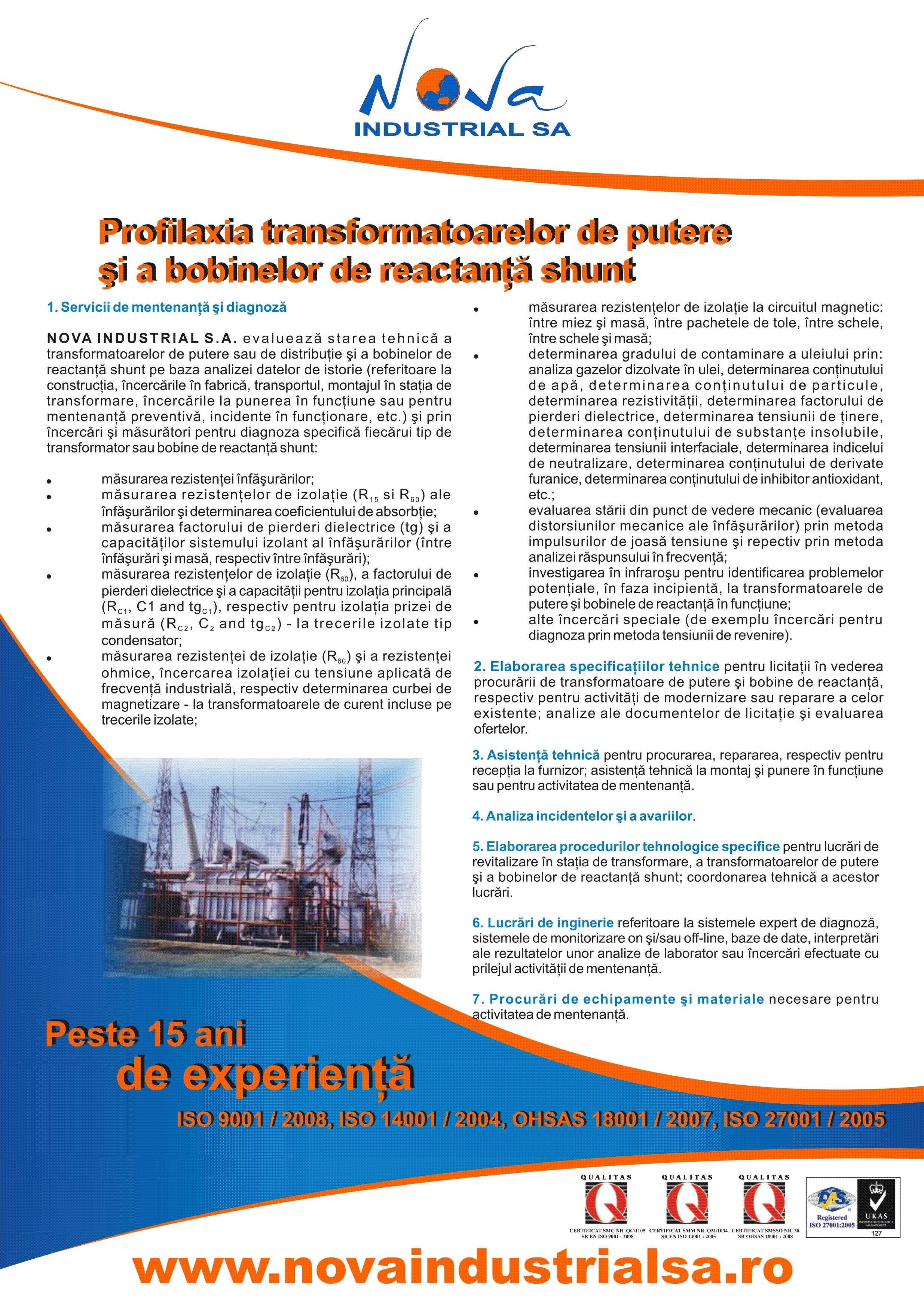 Power transformers and shunt reactors prophylaxis